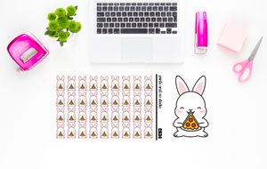 Carrots eats pizza planner stickers (C034)