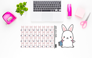 Carrots is ready for school planner stickers (C039)