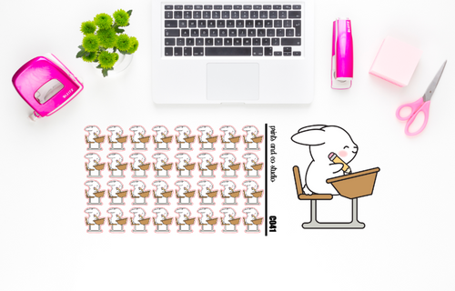 Carrots writes planner stickers (C041)