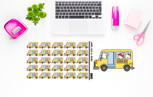Carrots rides the bus planner stickers (C042)