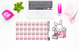 Carrots went shopping planner stickers (C045)
