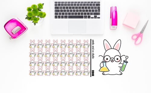 Carrots does science planner stickers (C046)