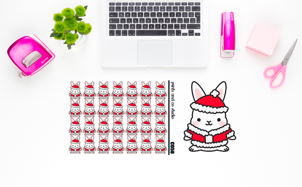 Santa Carrots planner stickers (C050)