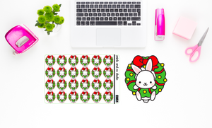 Carrots in a wreath planner stickers (C051)