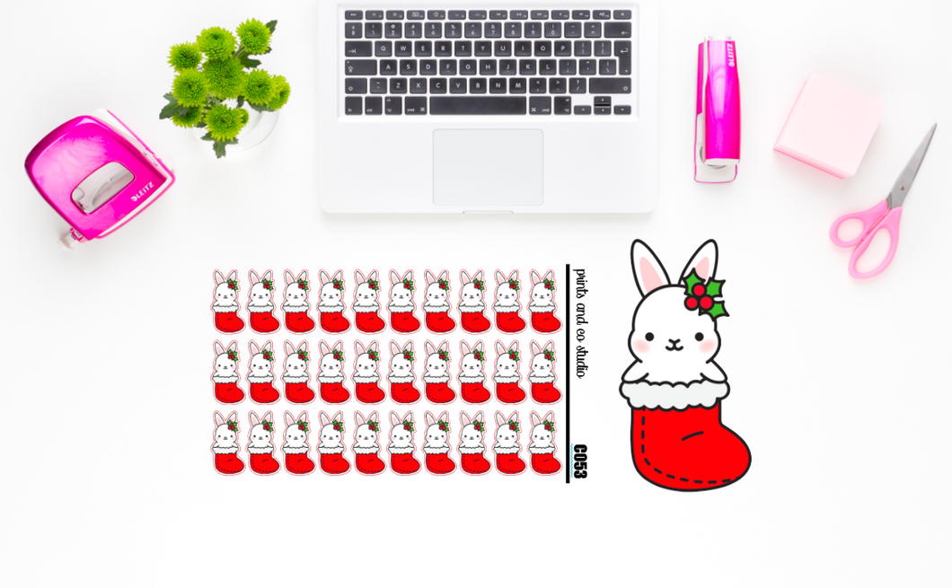 Carrots in a stocking planner stickers (C053)