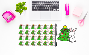 Carrots with a Christmas tree planner stickers (C048)