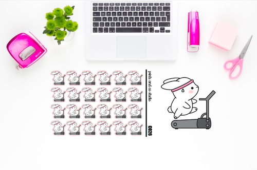 Carrots runs on the treadmill planner stickers (C026)