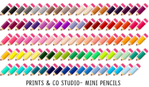 mini pencil stickers for planners, travelers notebooks and bullet journals
