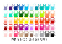 gas pump planner stickers