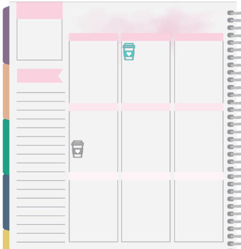 coffee cup planner stickers