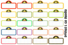 multi colored movie marquee planner stickers