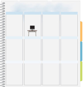 computer desk planner sticker