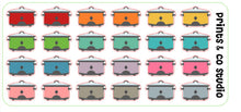 crock pot planner stickers