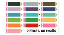 pencil planner stickers