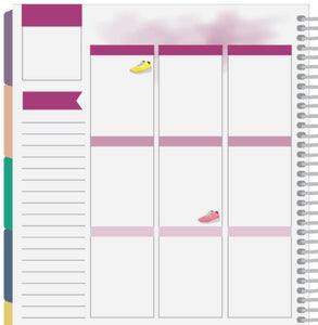 running shoe planner stickers