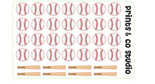 baseball planner sticker