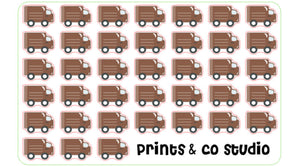 delivery truck planner stickers