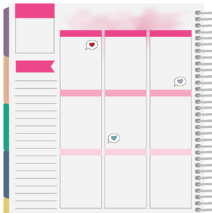 heart text bubble planner sticker