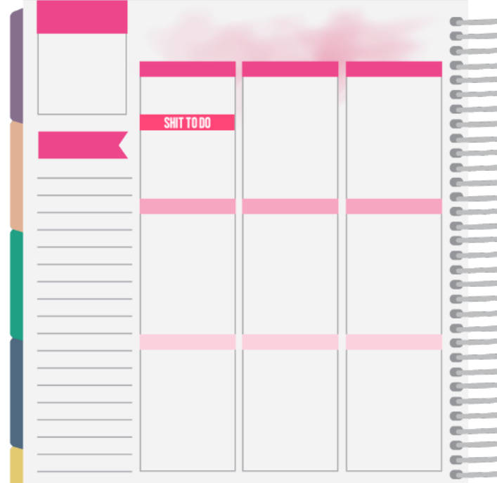 shit to do headers for planners
