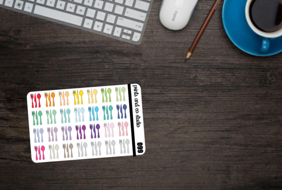 silverware planner stickers