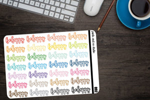 be happy script planner stickers