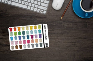 mini trash cans planner stickers