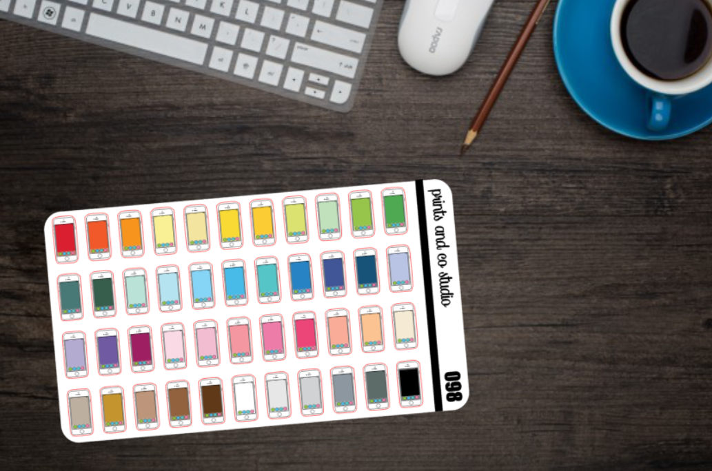 iphone planner stickers
