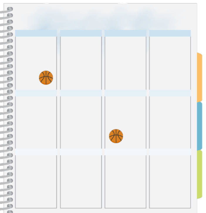 basketball planner sticker