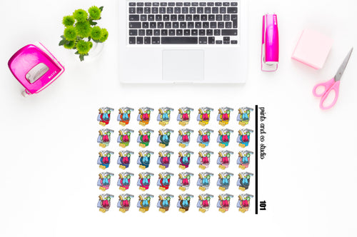 cleaning bucket planner stickers (S101)