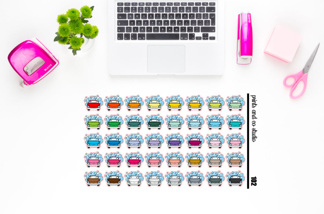car wash planner stickers (S102)
