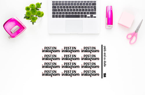post on instagram script planner stickers (S104)