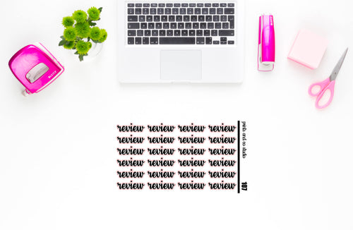 review script planner stickers (S107)