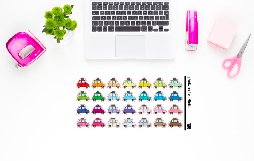 road trip planner stickers (S136)