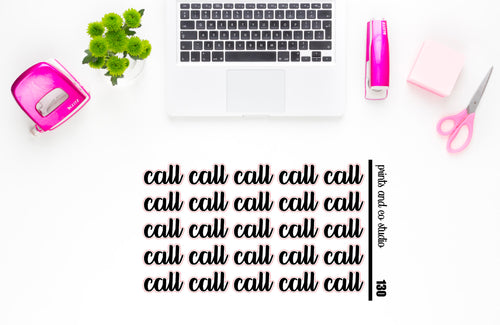 call script planner stickers (S130)