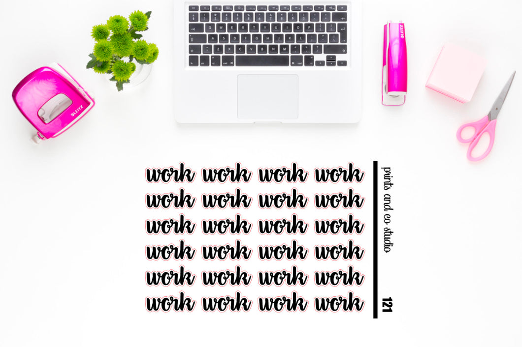 work script planner stickers (S121)