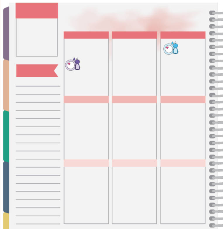dishes planner stickers