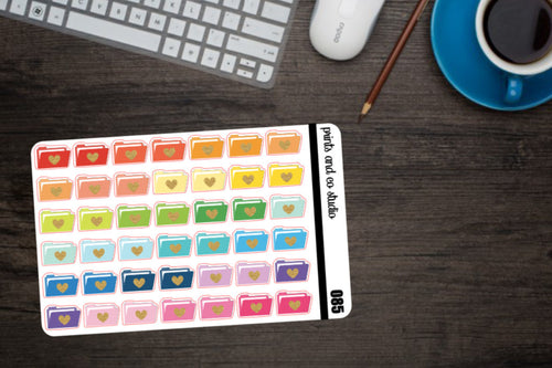 file folders planner stickers