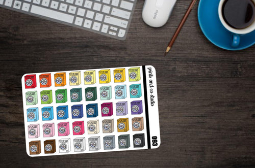 washing machine planner stickers