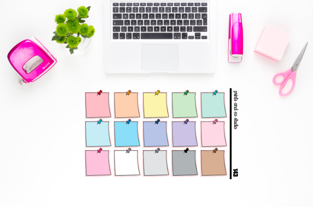 post it notes planner stickers (S143)