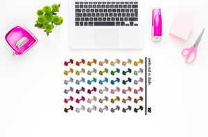 weights/dumbbells planner stickers (S147)