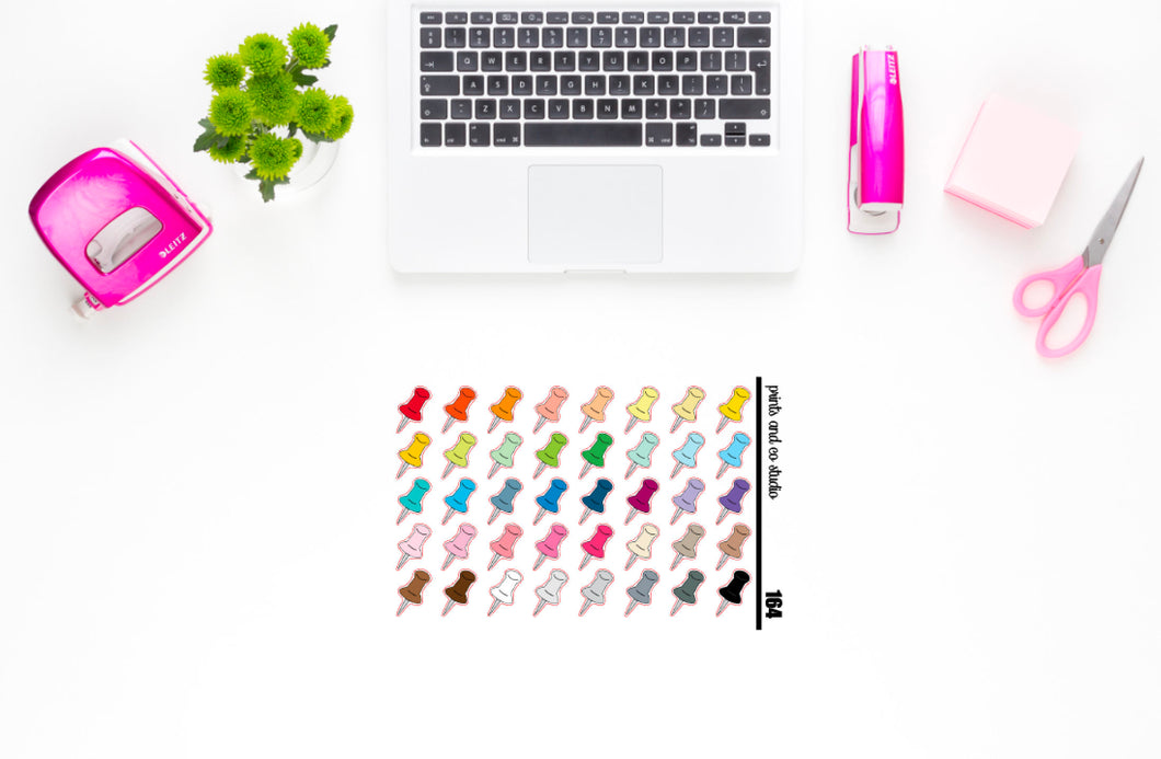 push pins planner stickers (S164)