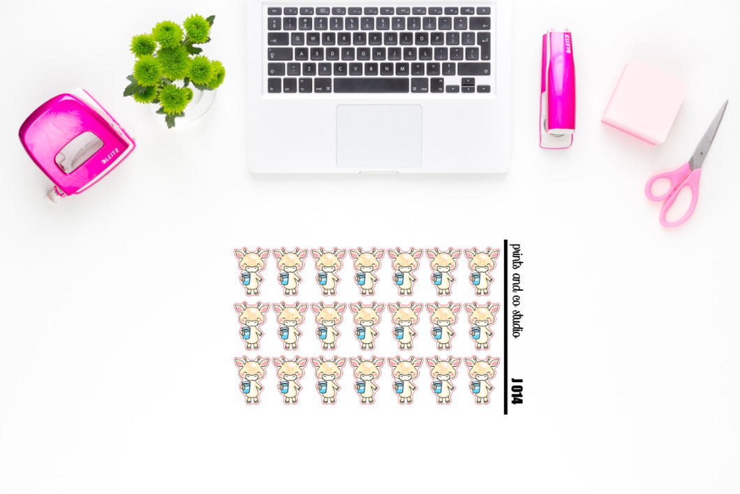Jeff drinks water planner stickers (J014)