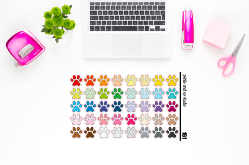 paw prints planner stickers (S161)