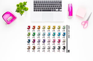 grill planner stickers (S157)
