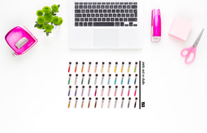 makeup brush planner stickers (S153)