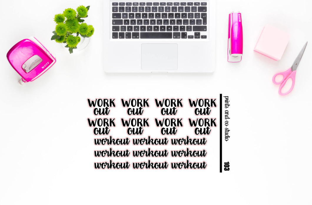 workout script planner stickers (S103)