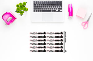 meals script planner stickers (S115)