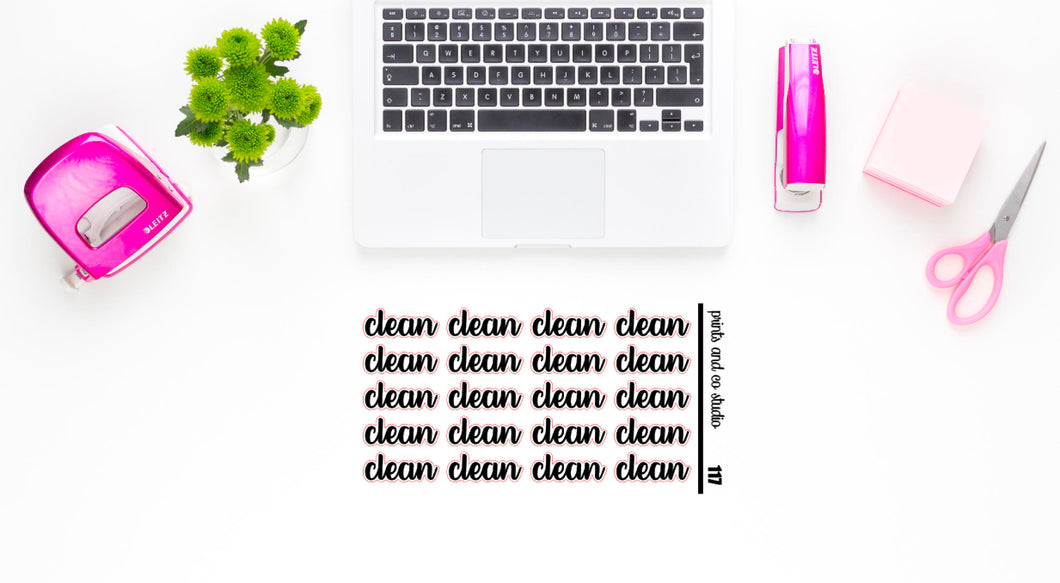 clean script planner stickers (S117)