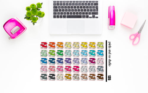 books planner stickers (S135)