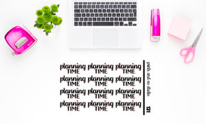 planning time script planner stickers (S131)